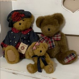 Boyds Bears red, white + blue set Priscilla T.